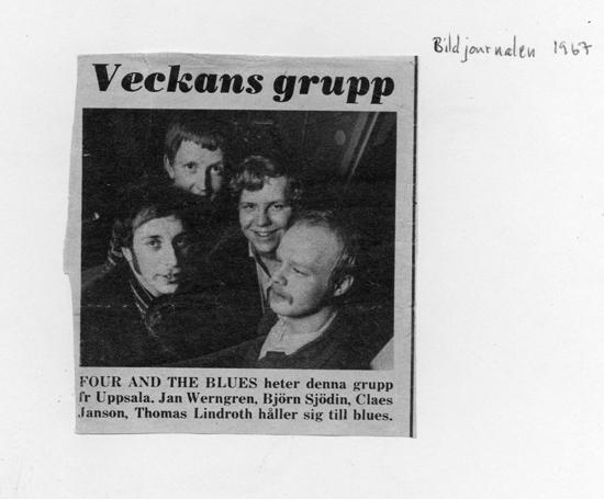 Första medieuppmärksamheten - Four and the Blues var Veckans Grupp en vecka i Bildis
